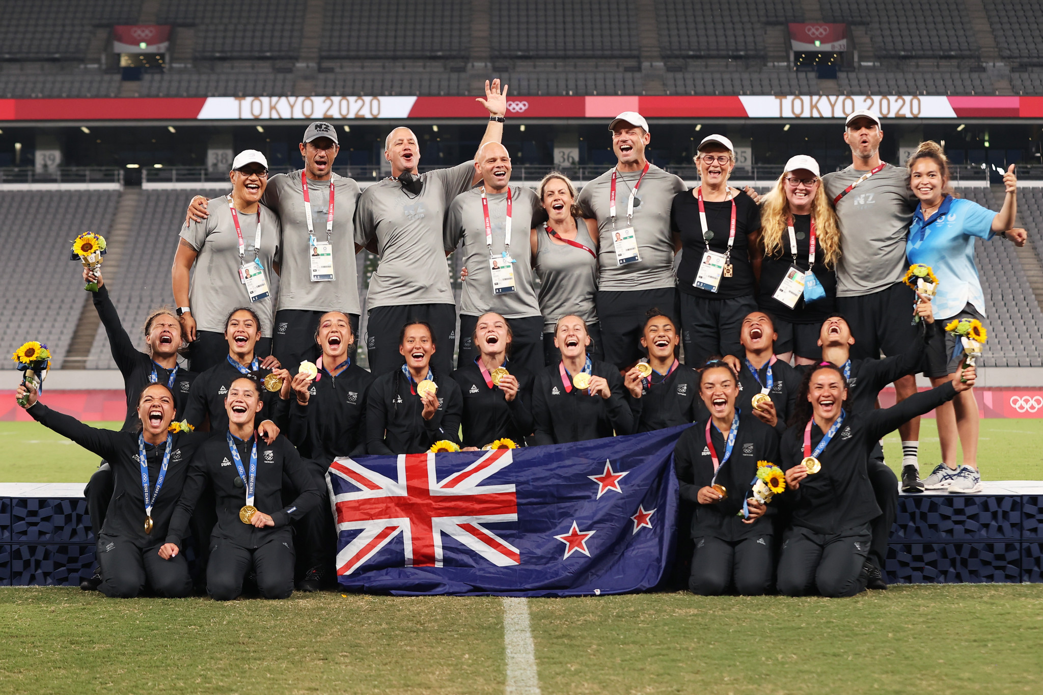 New Zealand bounce back from Rio heartbreak with women's rugby sevens gold in Tokyo