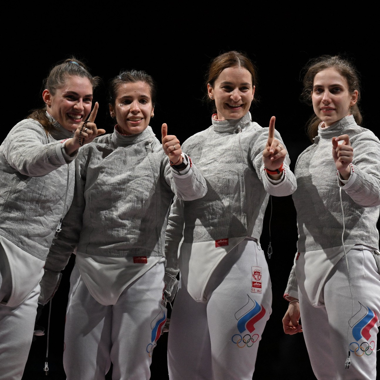 Women's sabre fencing team
