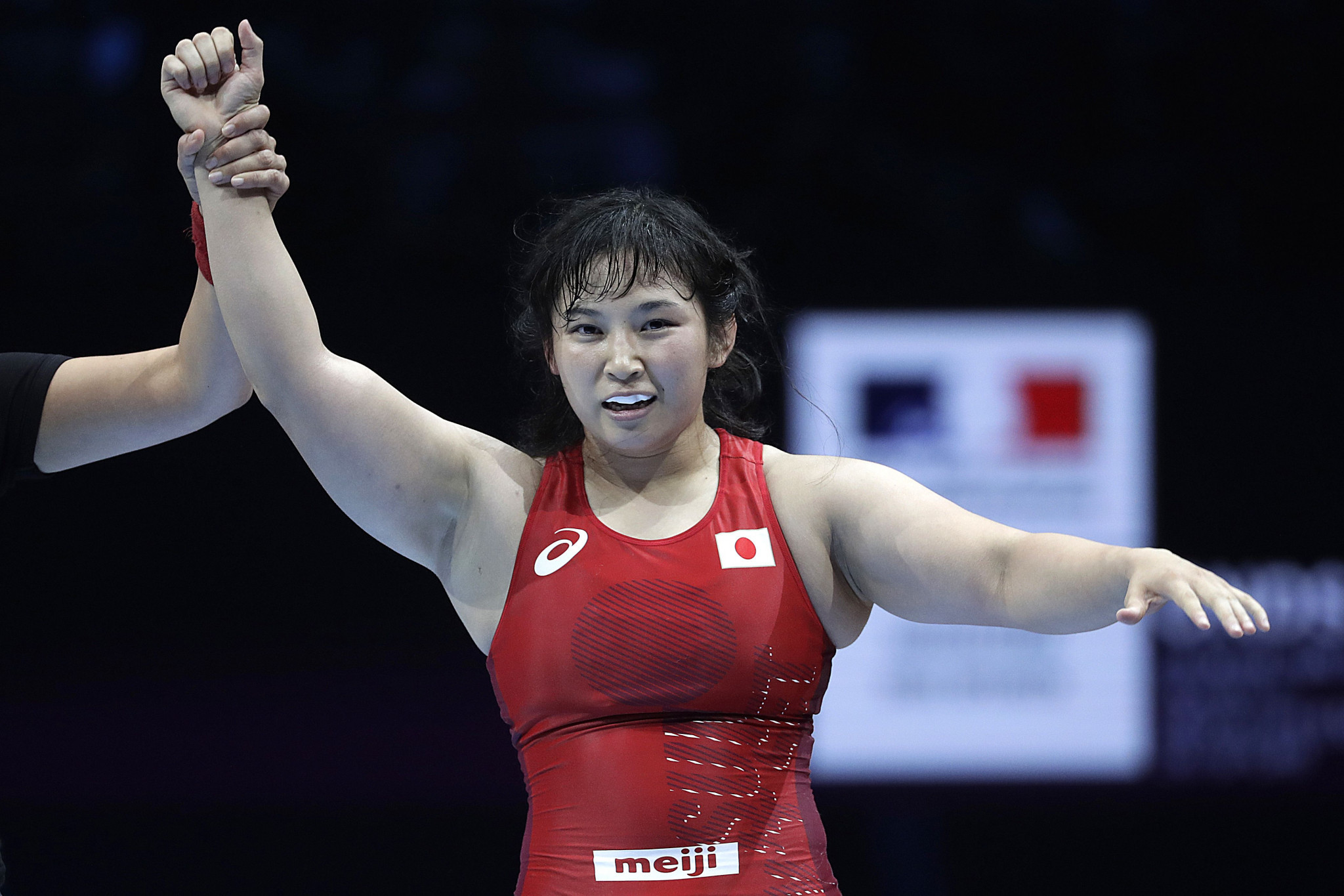 Japan's Sara Dosho will defend her Olympic crown with the hosts hoping for a good performance in wrestling ©Getty Images