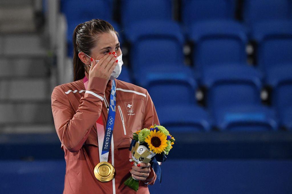 Bencic battles past Vondroušová to win Switzerland's first Olympic women's tennis gold medal