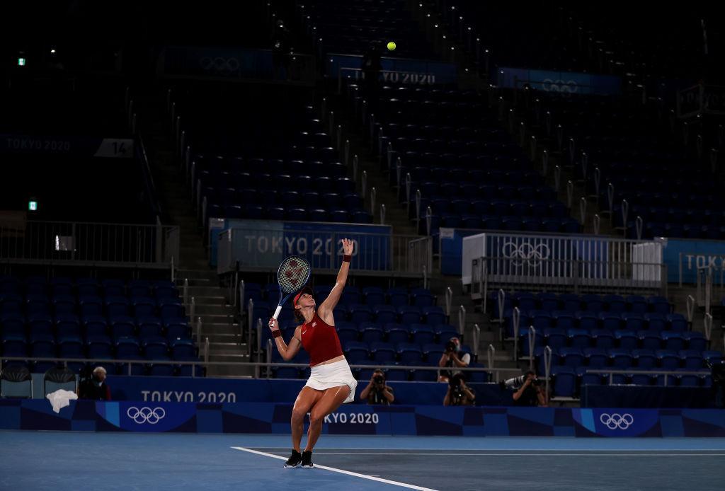 Bencic beat unseeded Markéta Vondroušová to make history at Tokyo 2020 ©Getty Images