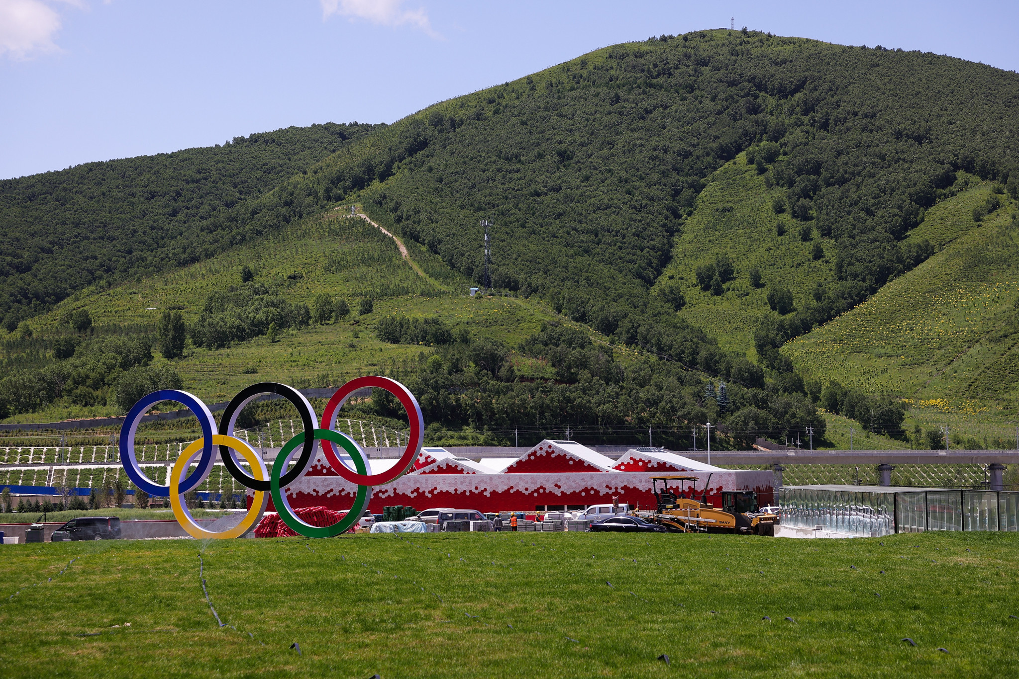 Zhangjikou's Olympic Village was completed in June ©Getty Images