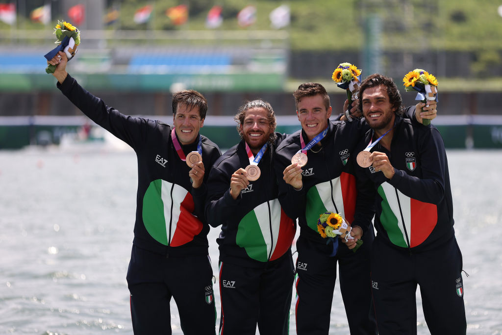 The Italian quartet went on to finish third in the final of the men's four without Bruno Rosetti ©Getty Images
