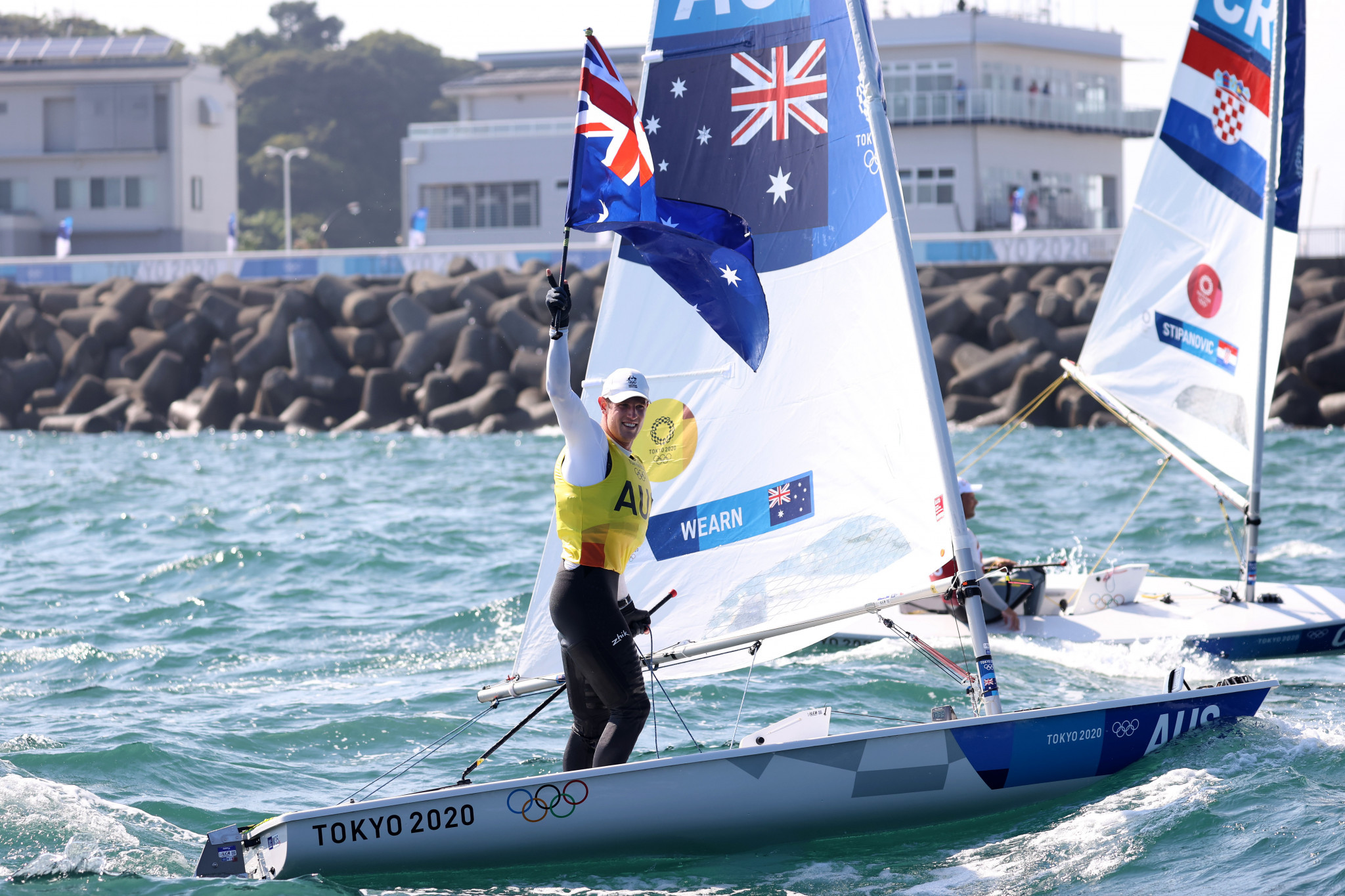 Matt Wearn triumphed in the men's laser competition ©Getty Images