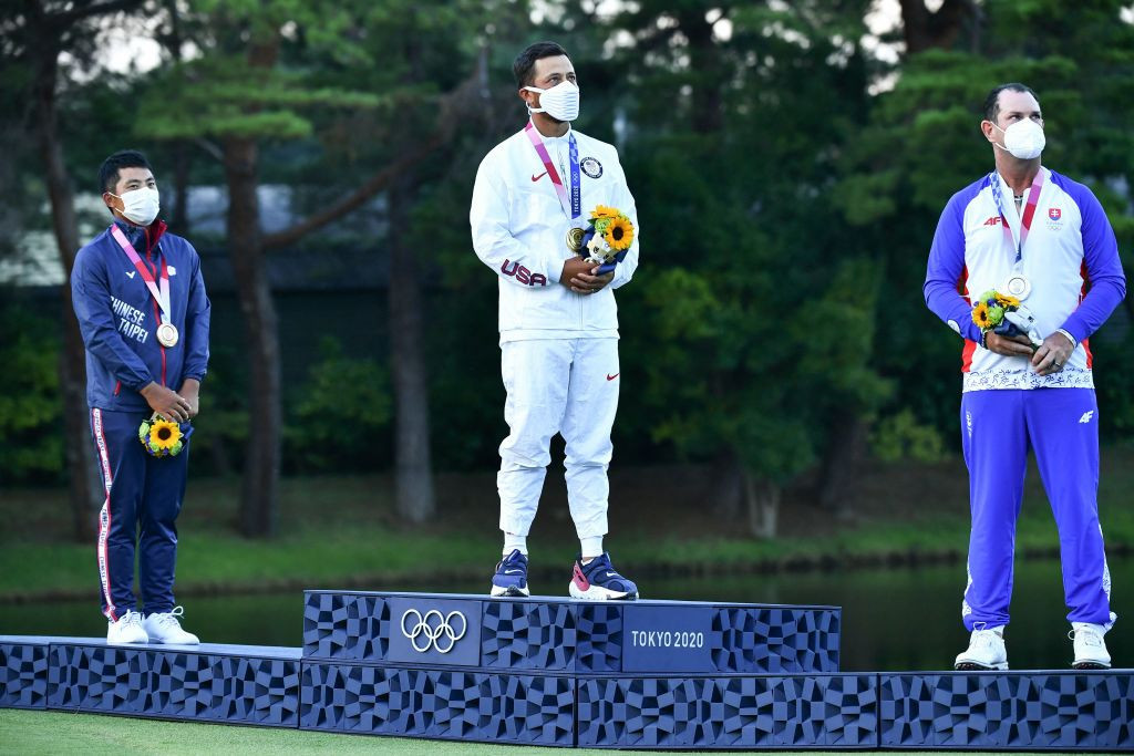 Xander Schauffele claimed the men's gold medal after a thrilling final day ©Getty Images
