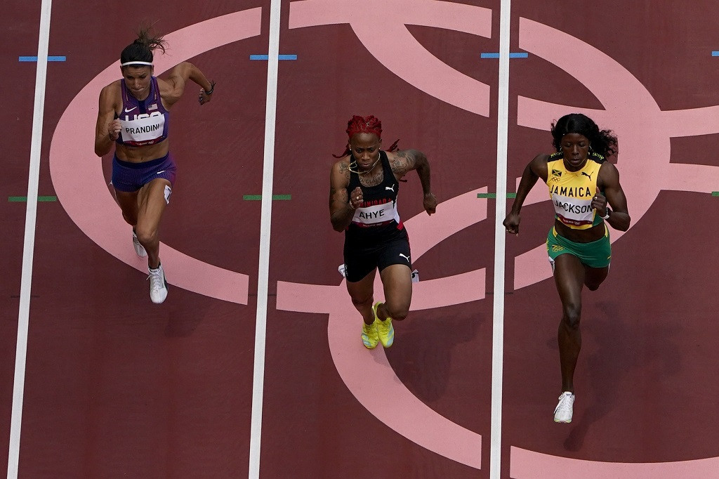 Trinidad and Tobago's Michelle-Lee Ahye missed out on a place in the final of the women's Olympic 100 metres by just a thousandth of a second ©Getty Images