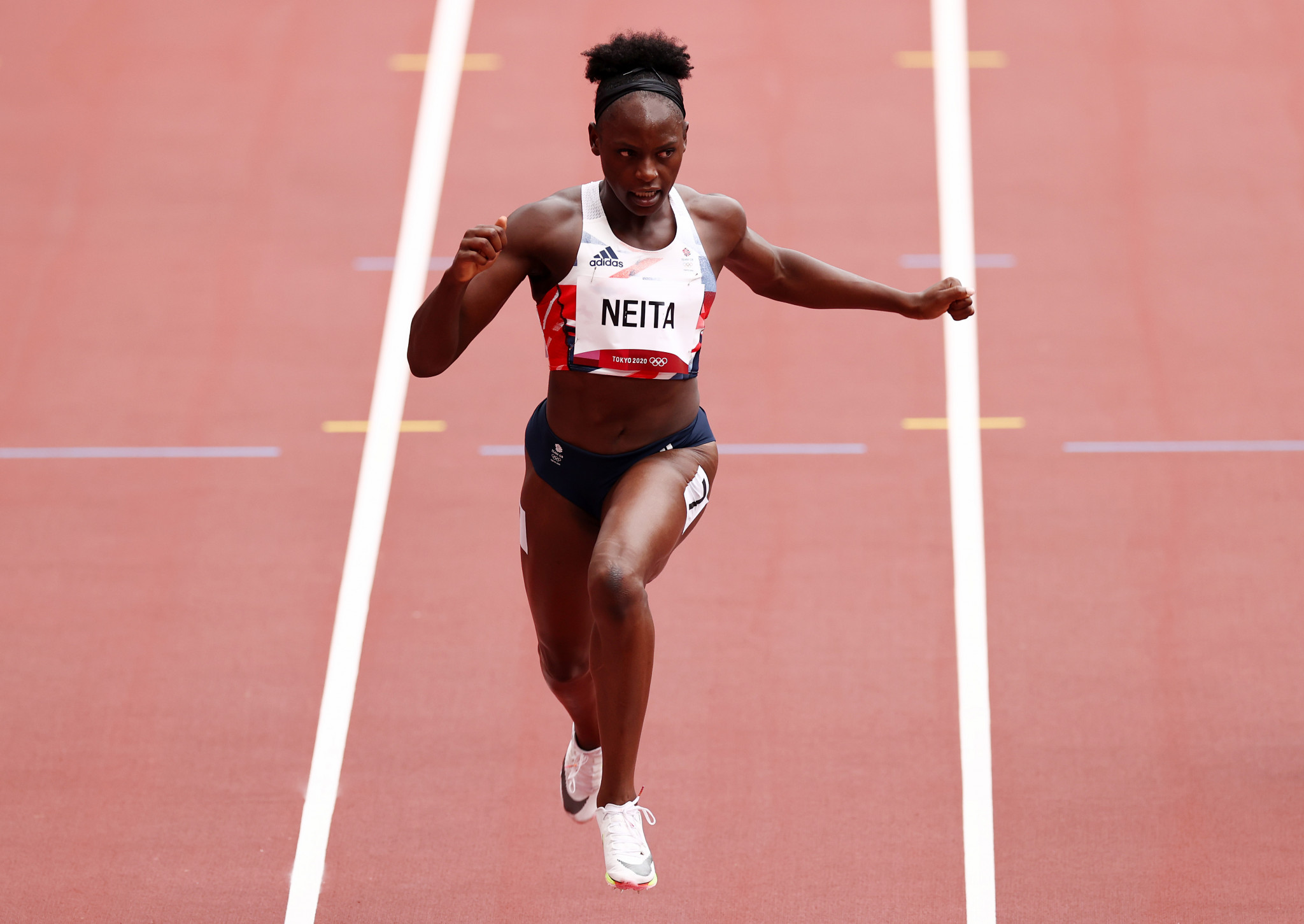 The eighth and final place in the women's 100m final went to Britain's Daryll Neita, who was only fractionally quicker than Trinidad and Tobago's Michelle-Lee Ahye  ©Getty Images