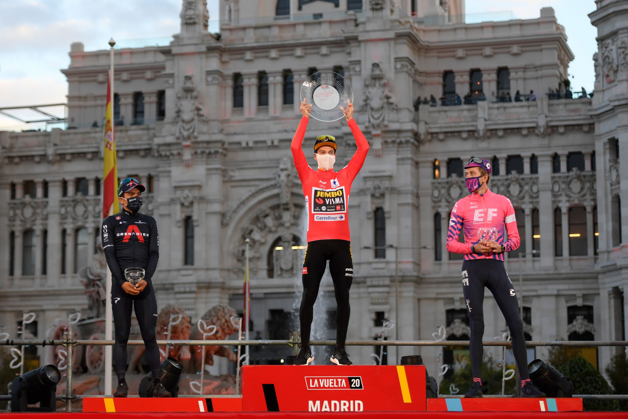 La Vuelta is returning to its 21-stage format and regular calendar date, after last year's shortened and delayed tour was won by Slovenian Primož Roglič ©Getty Images