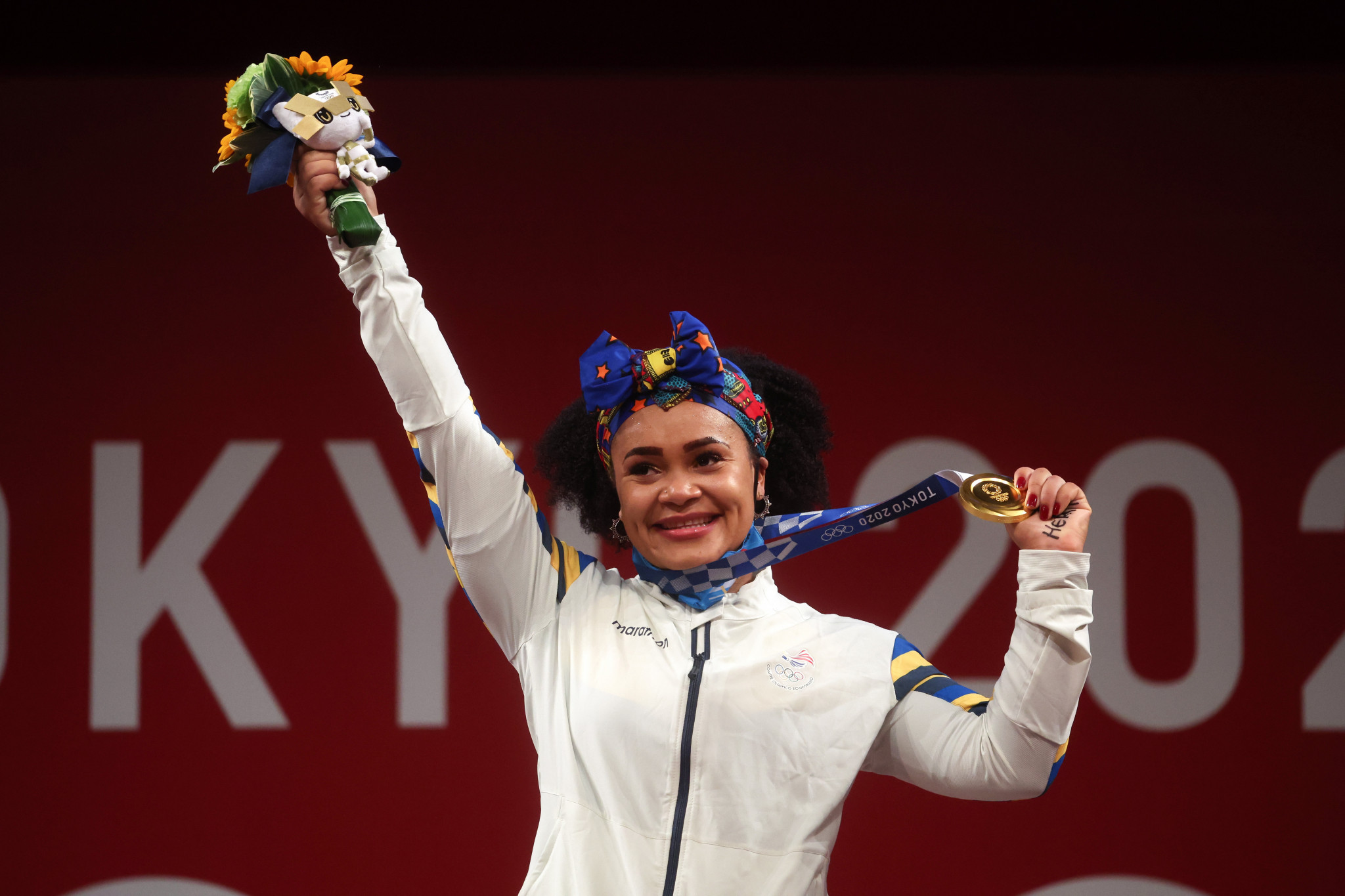 Weightlifter Dajomes wins landmark gold for Ecuador as American Nye takes silver