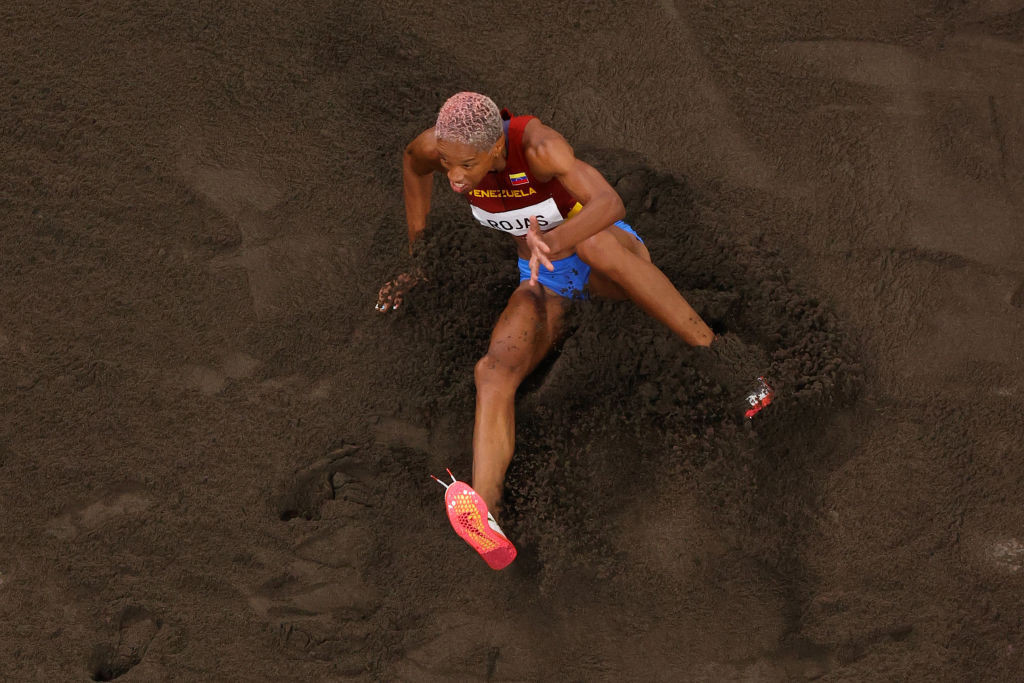 Yulimar Rojas of Venezuela had already won the Olympic triple jump title before setting a world record of 15.67m with her sixth and final attempt at the Tokyo 2020 Games ©Getty Images