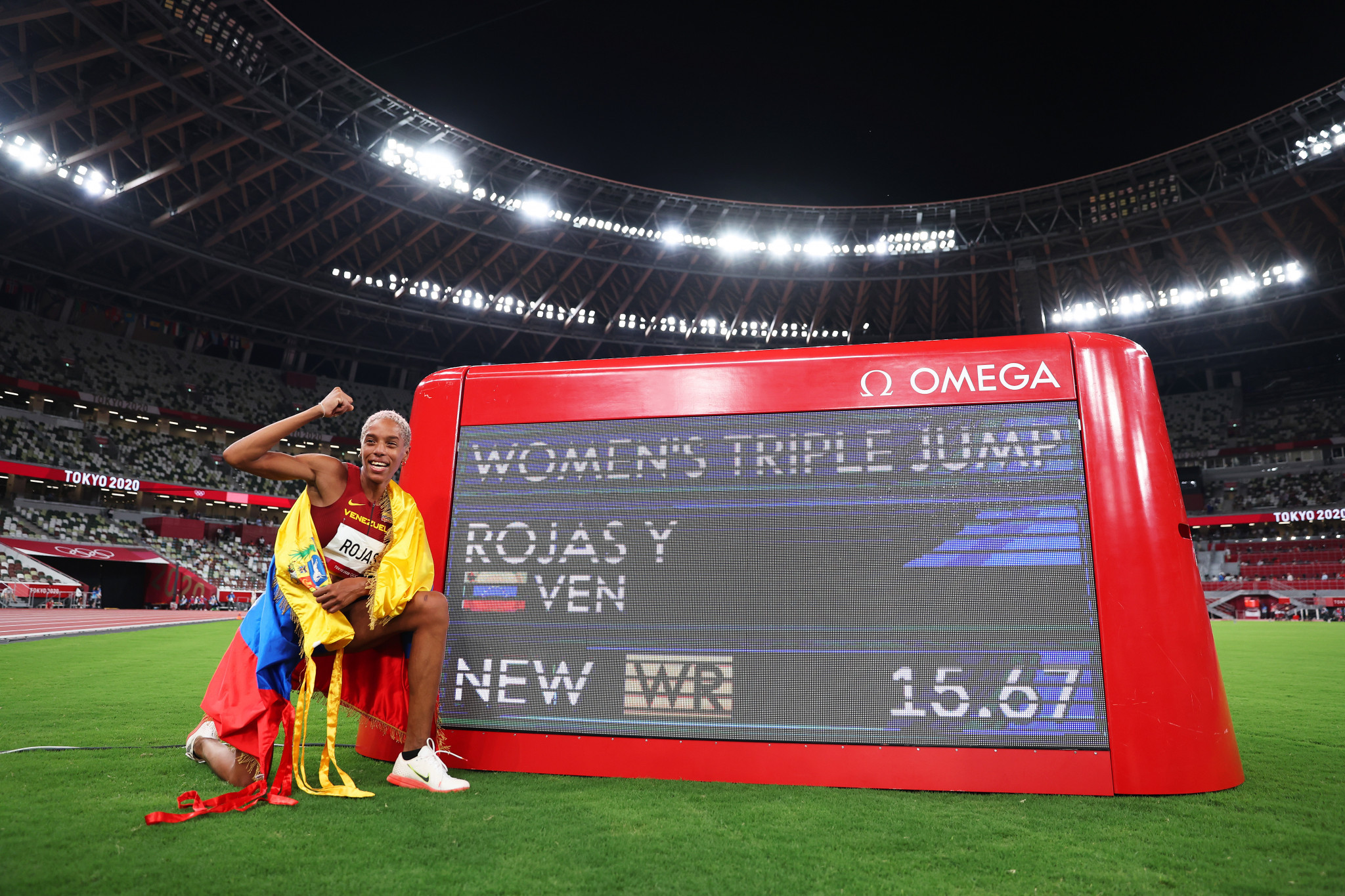 Yulimar Rojas earns Olympic triple jump gold with 15.67m world record