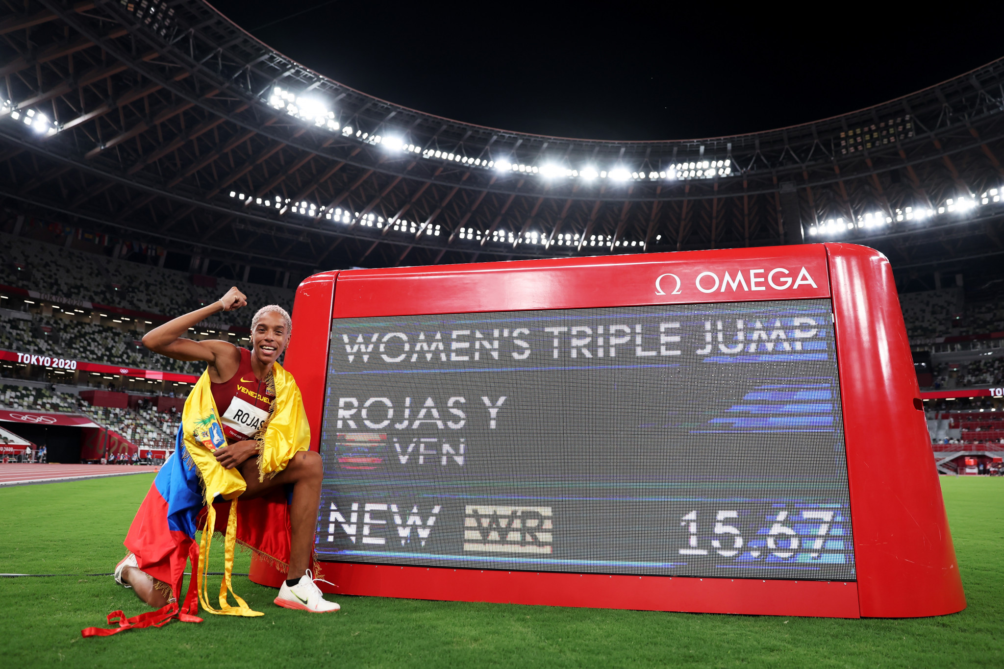 Venezuela's Yulimar Rojas was the most impressive performer across the day's track and field contests however, setting a new world record in winning the women's triple jump ©Getty Images