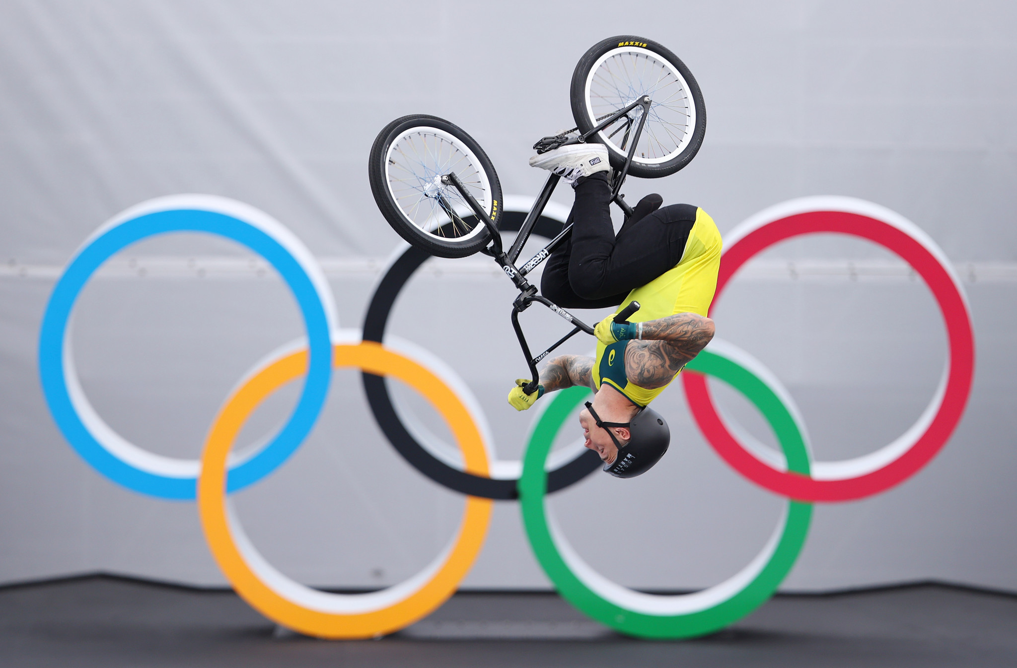 Pre-event favourite Logan Martin won the maiden men's BMX freestyle event, with the Australian's first-run score justifying that label ©Getty Images