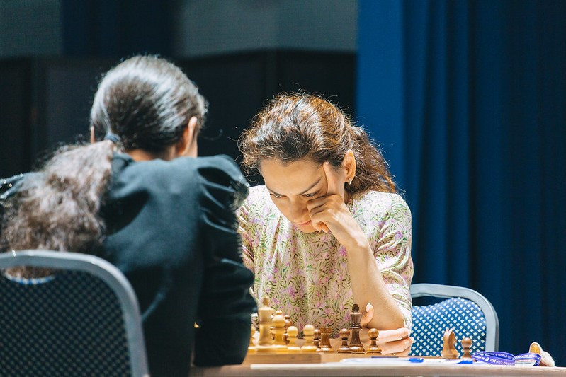 Kosteniuk takes lead of Women's Chess World Cup final as open matches end in stalemates