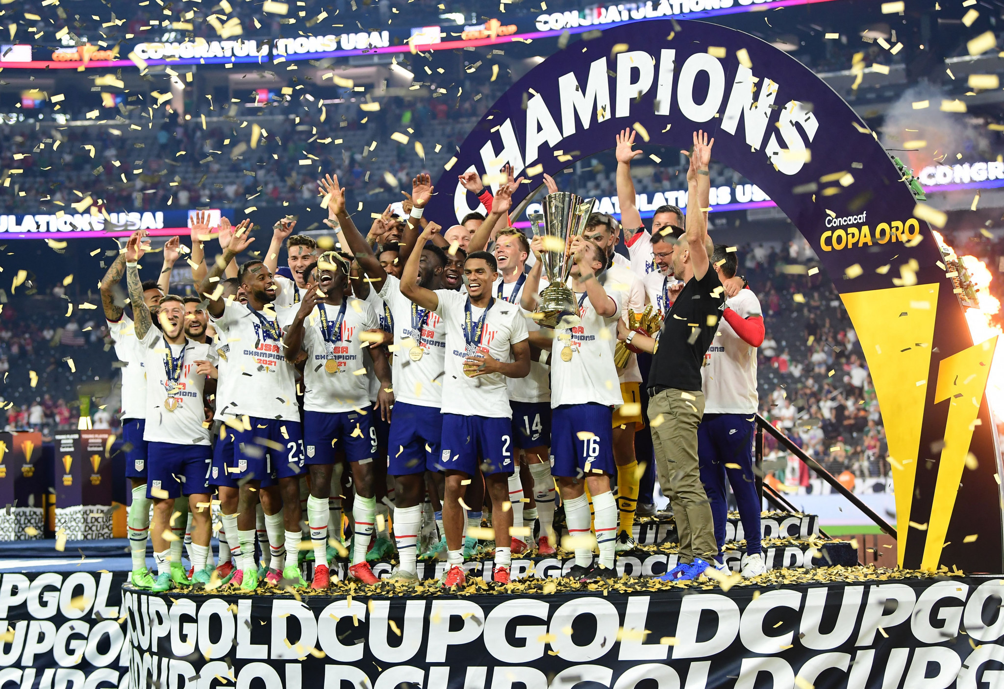 United States beat Mexico in Gold Cup final after last-gasp strike