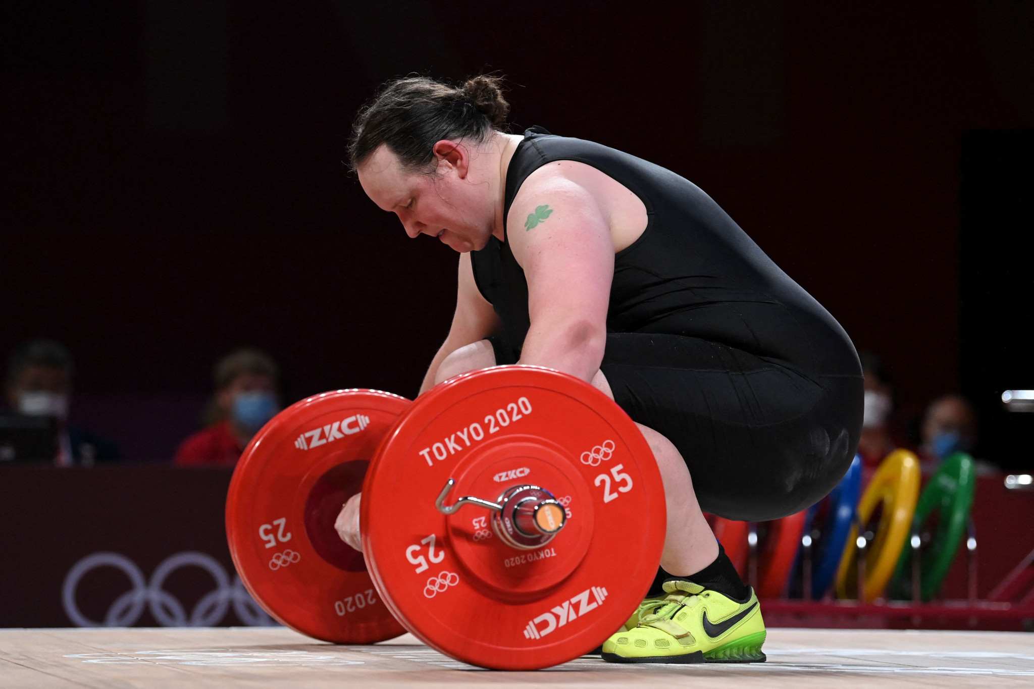 Laurel Hubbard makes history but no lifts as Olympic appearance ends prematurely