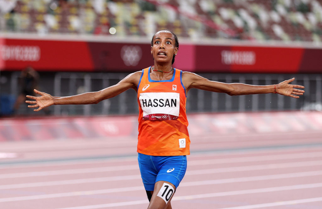 Hassan wins women's 5,000m title, first of three Tokyo 2020 targets
