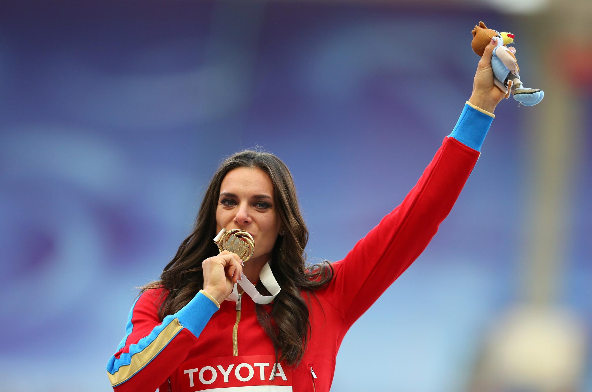 Isinbayeva disputes decision to split men's high jump gold at Tokyo 2020