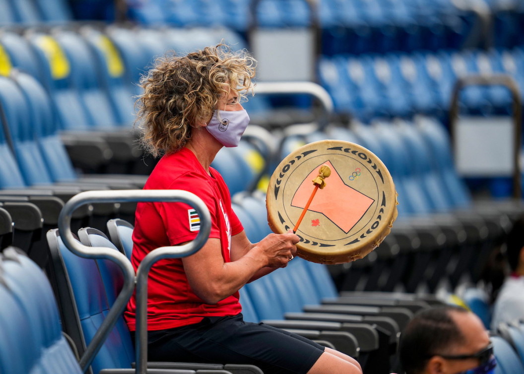 Squamish Nation gift has Chef de Mission beating the drum for Canada at Tokyo 2020