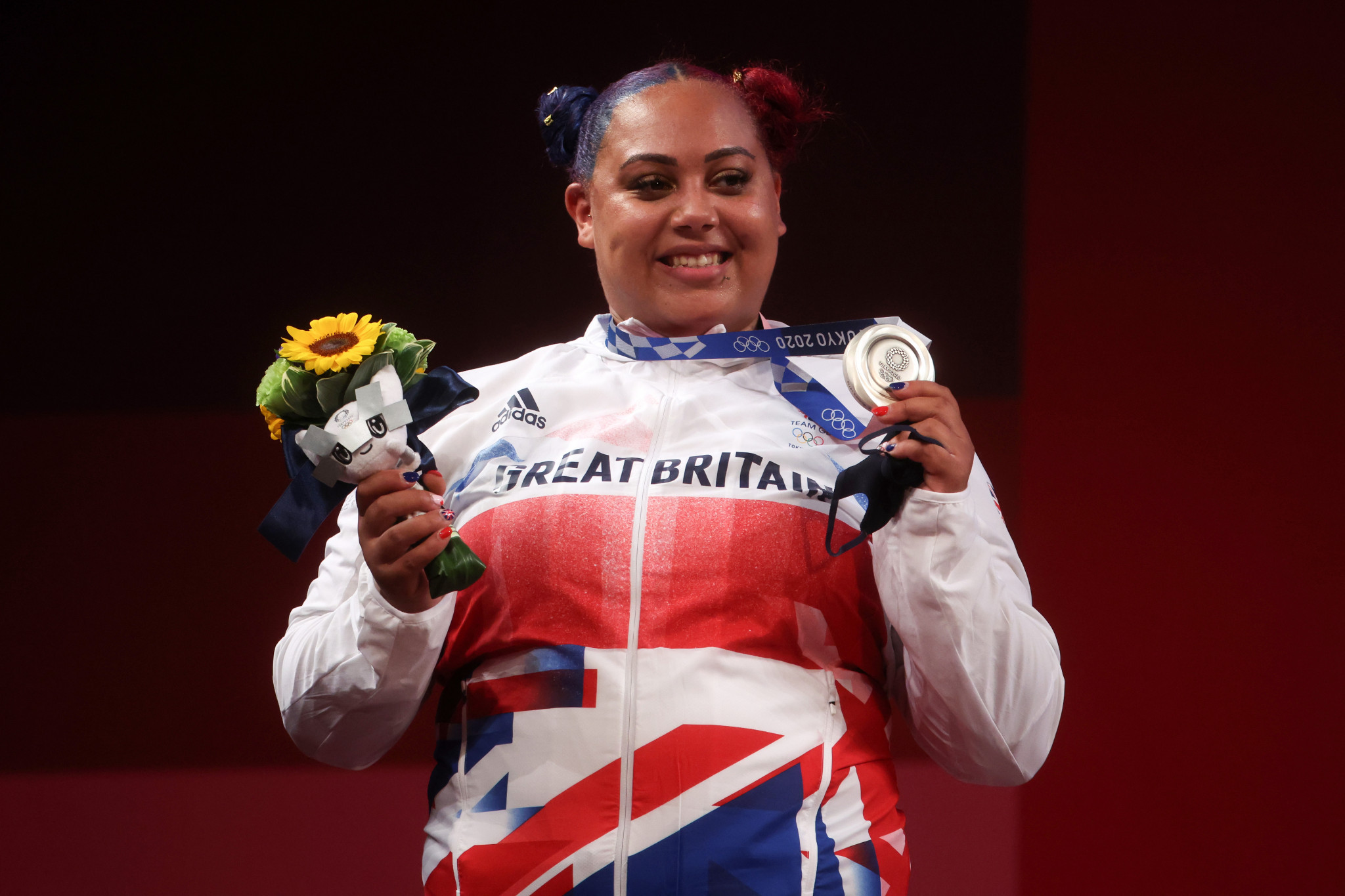 """Weightlifter Emily Campbell """"brings back the bling"""" as Britain's first female Olympic medallist"""