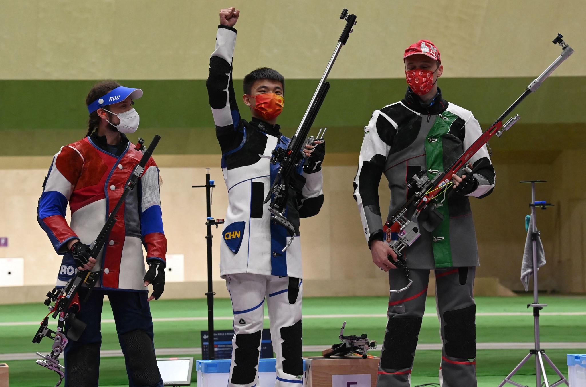 China's Zhang Changhong won the final shooting gold of Tokyo 2020 ©Getty Images