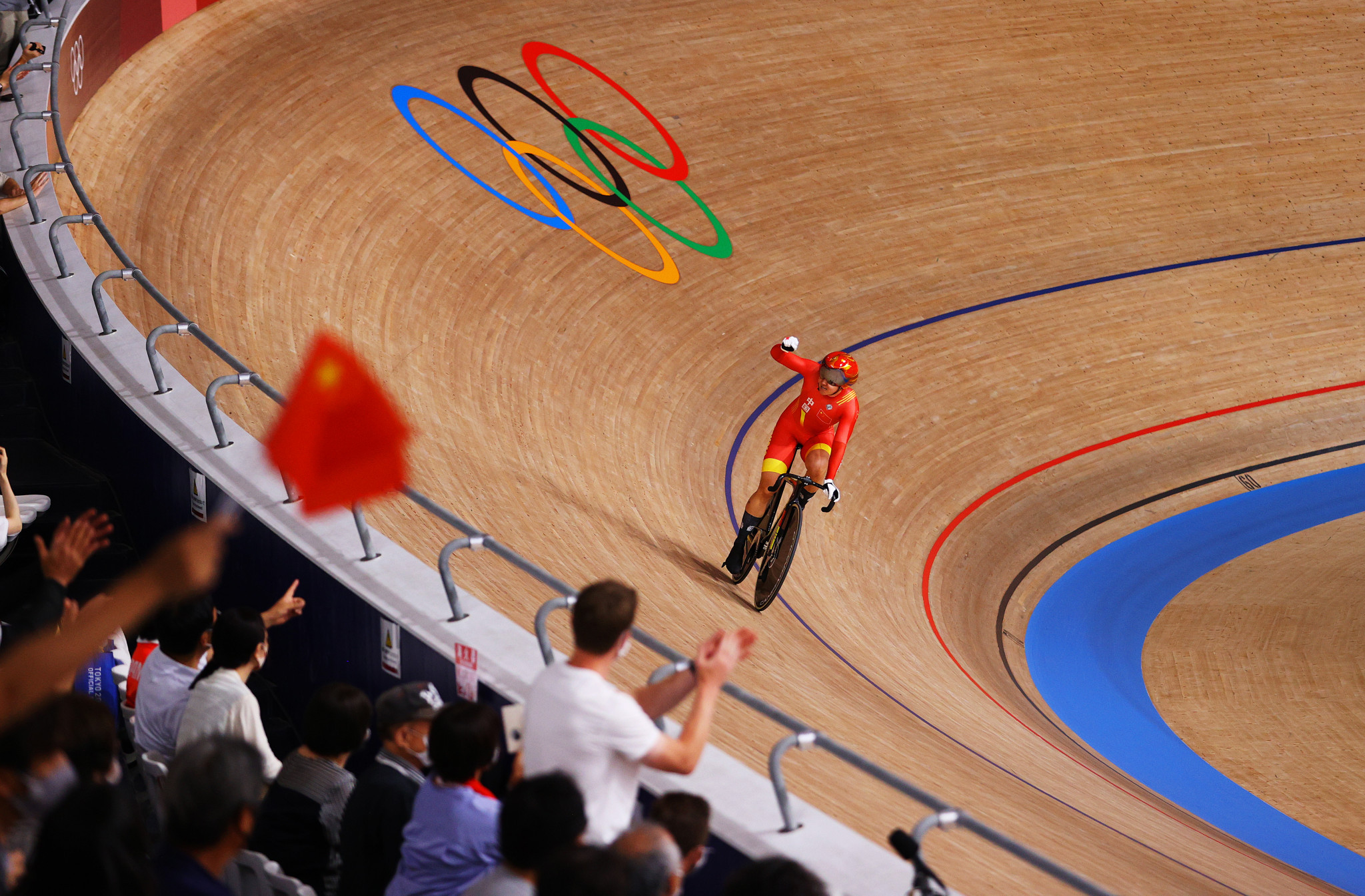 China celebrate women's team sprint success as track cycling begins at Tokyo 2020