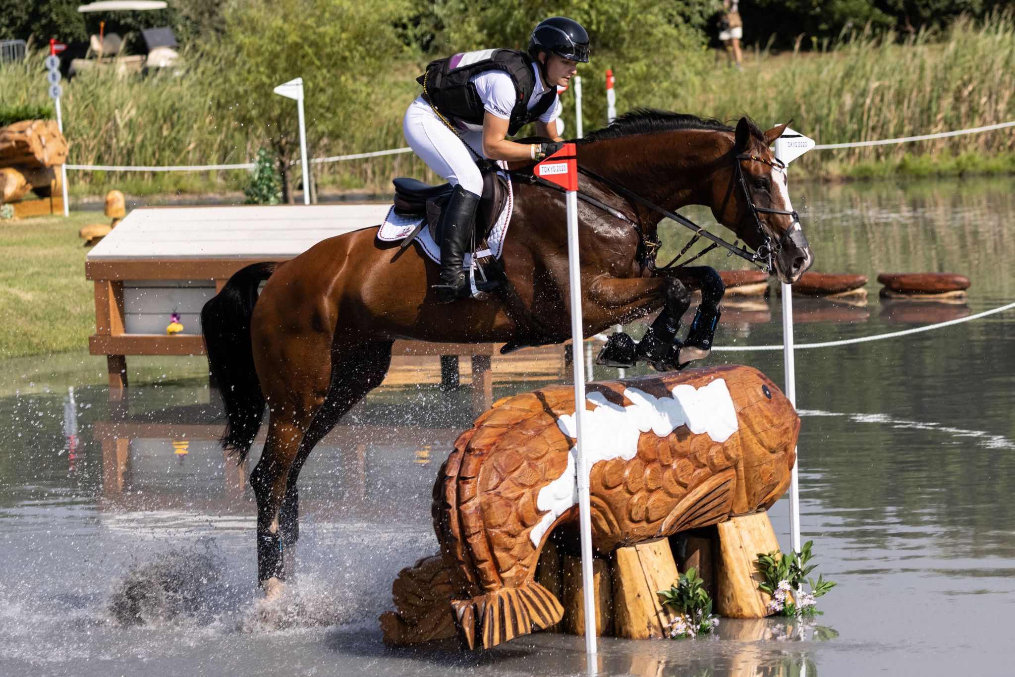 Krajewski becomes first woman to win solo eventing gold as Britain claim team title at Tokyo 2020