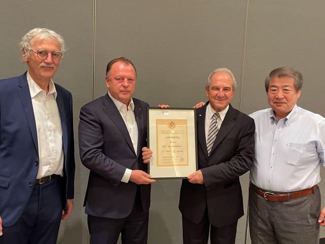 Spanish Judo Federation and Maltese Judo Federation Presidents awarded eighth dan