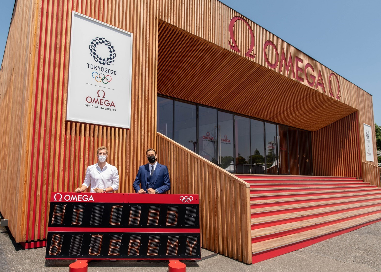 Le Clos and Desplanches visit Omega at Tokyo 2020 after conclusion of swimming competition