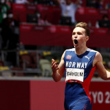 Warholm wins 400m hurdles gold and smashes world record by nearly a second
