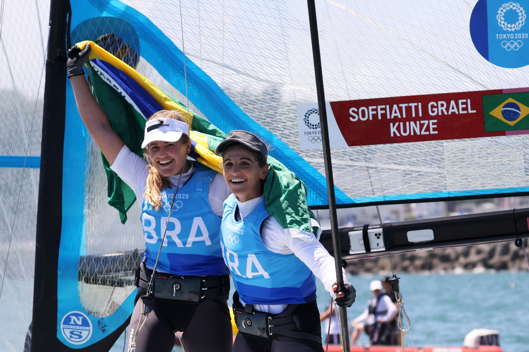 Brazilians defend Olympic sailing title as British boat leapfrogs New Zealand for gold