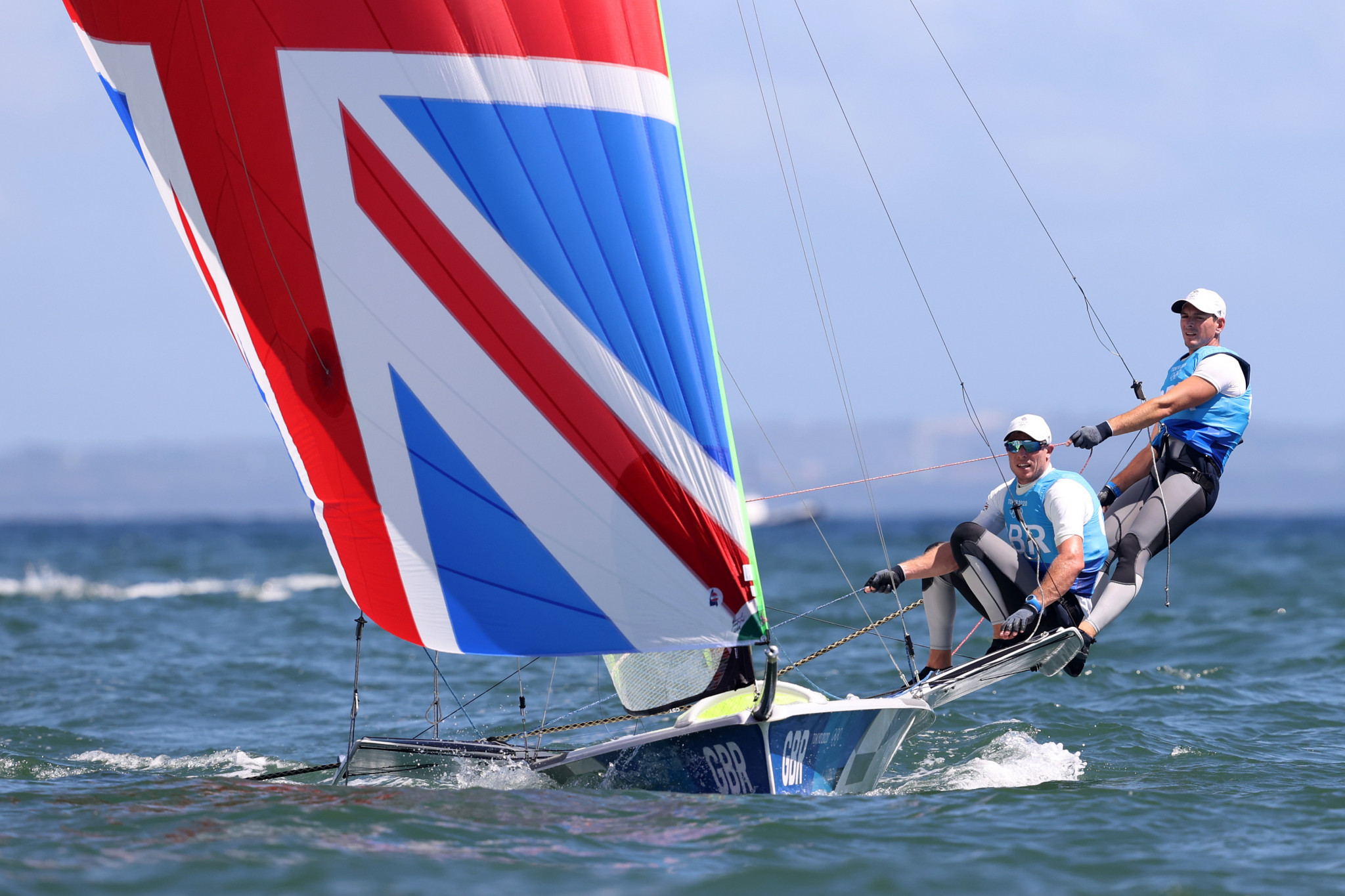 Britain's Dylan Fletcher and Stuart Bithell won the 49er title in dramatic circumstances  ©Getty Images