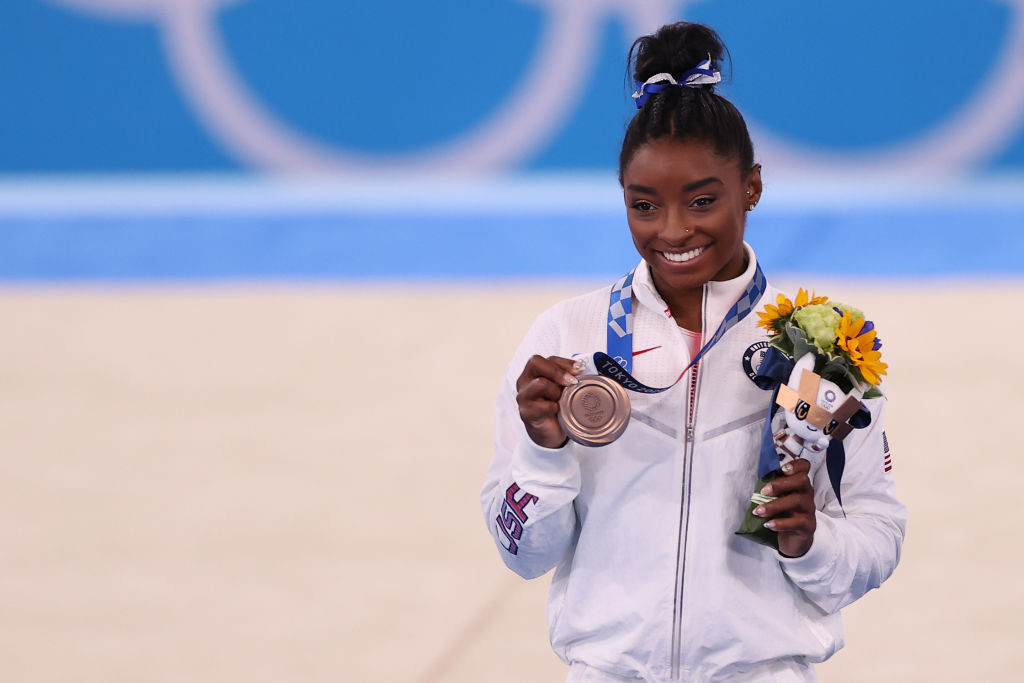 Fearless Biles claims balance beam bronze on return to action at Tokyo 2020