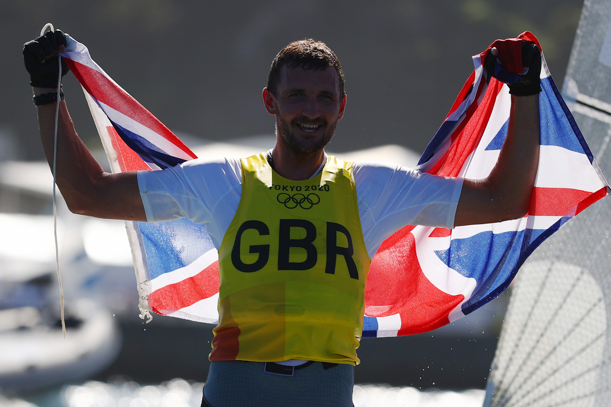 Giles Scott retained his Olympic finn title to win Britain's second sailing gold of the day  ©Getty Images