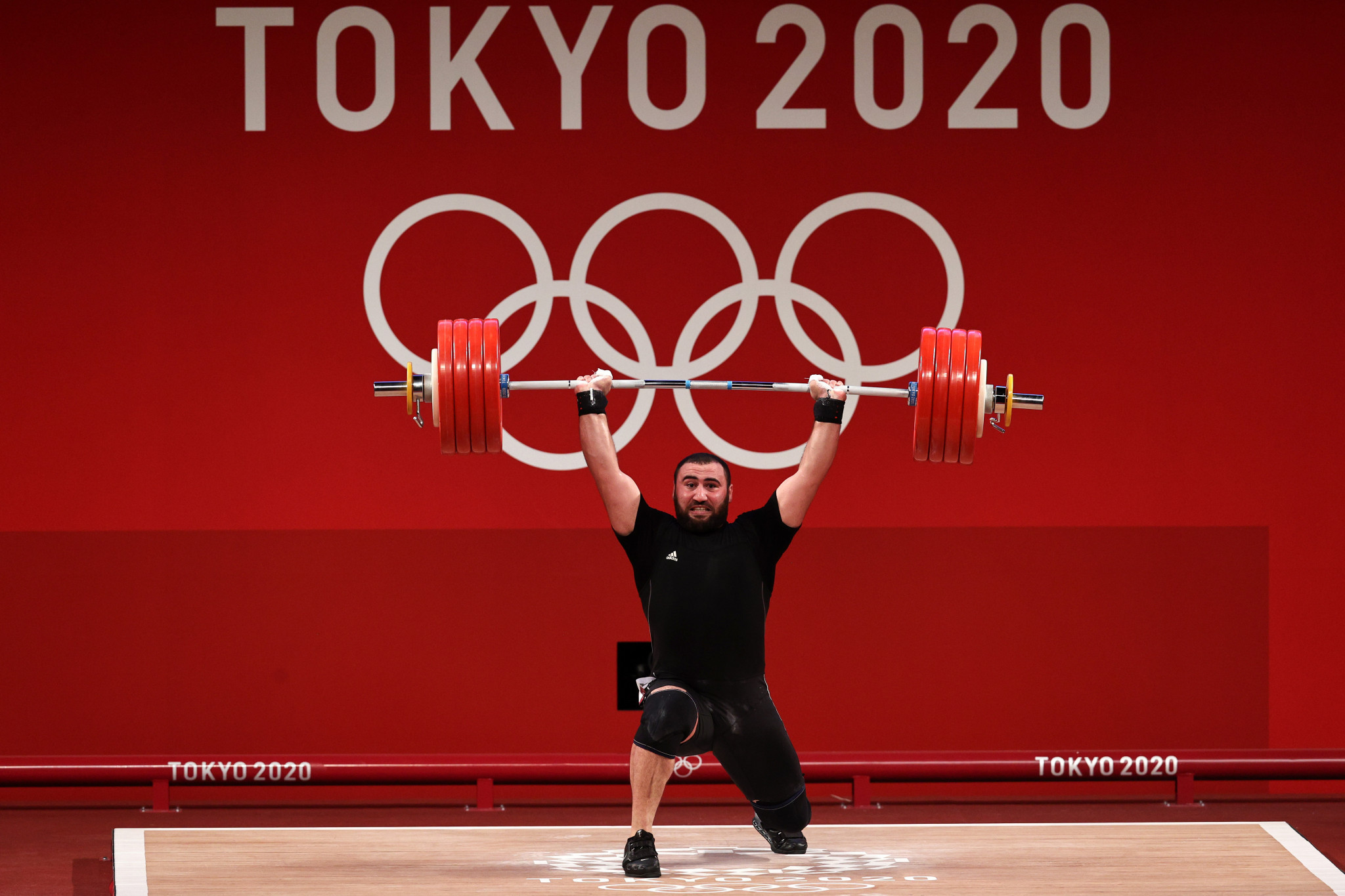 Simon Martirosyan, who won silver, was the favourite entering the men's 109kg weightlifting competition at Tokyo 2020 ©Getty Images