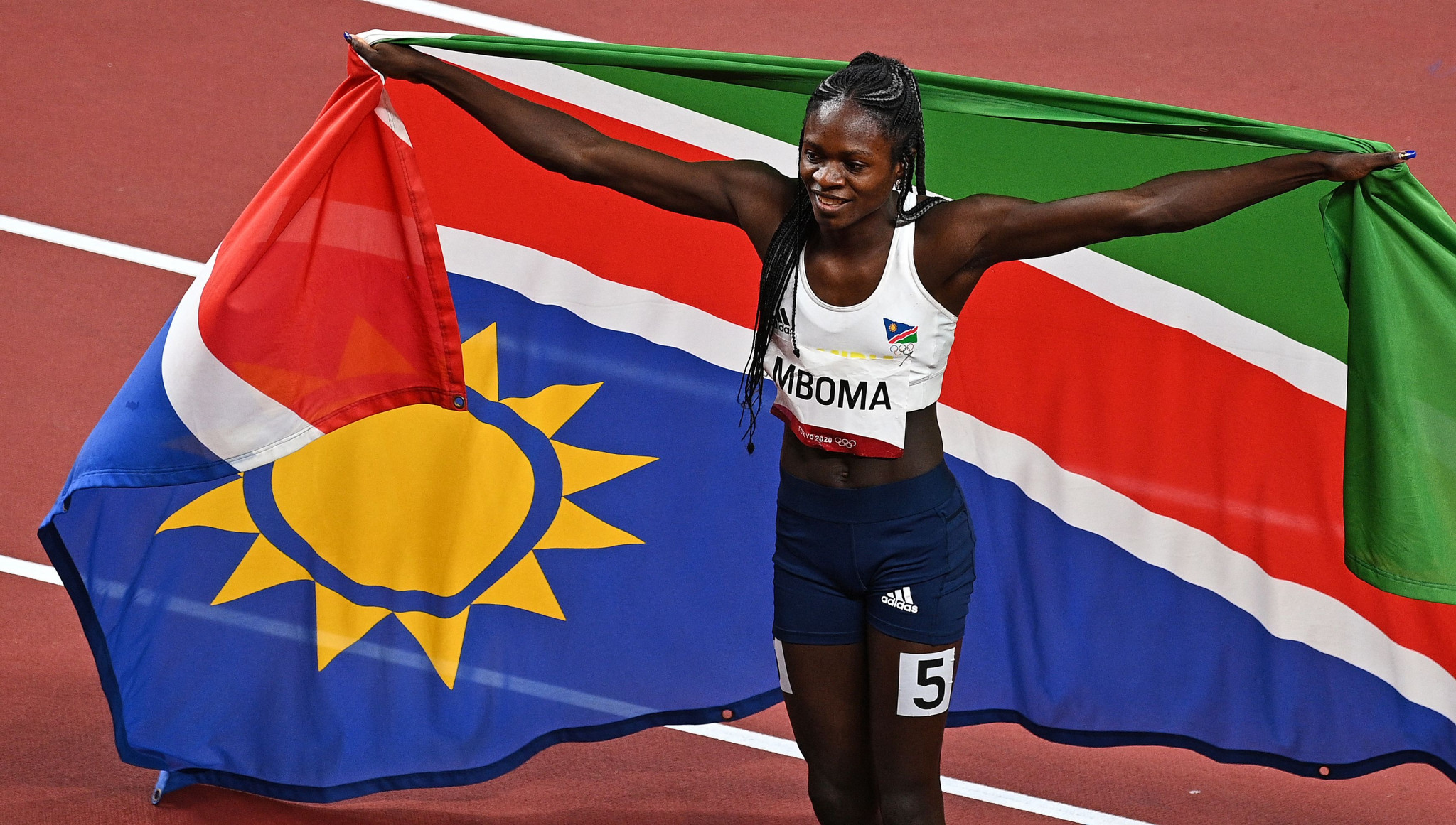 Second in that race was 18-year-old Christine Mboma of Namibia, who was not allowed to run over her preferred distance of 400m because of World Athletics' rules on women athletes' naturally-occurring testosterone levels, but still leaves the Olympics with a medal ©Getty Images