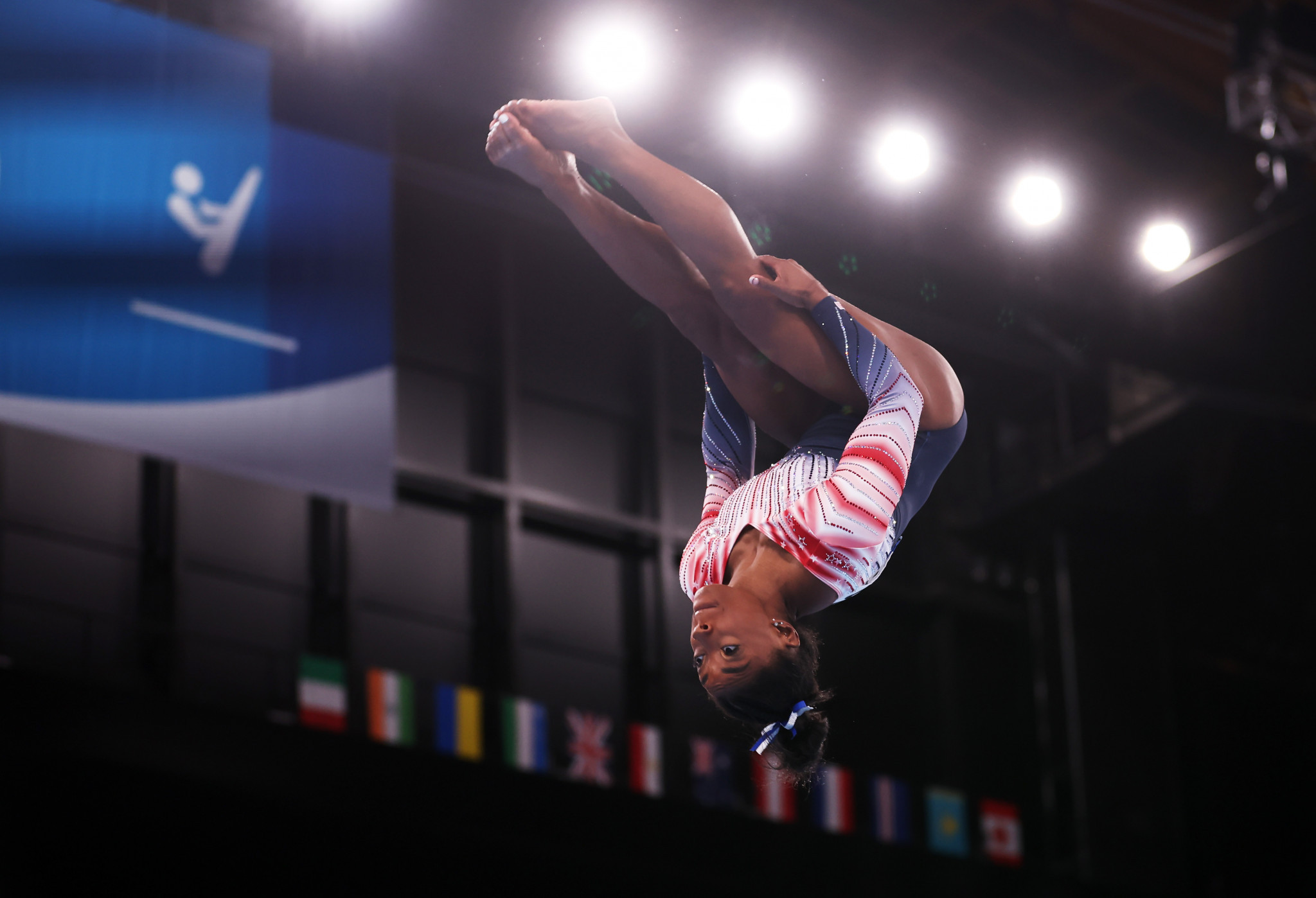 """Simone Biles returned to competition on the balance beam - which she said """"meant the world"""" - and duly won bronze  ©Getty Images"""