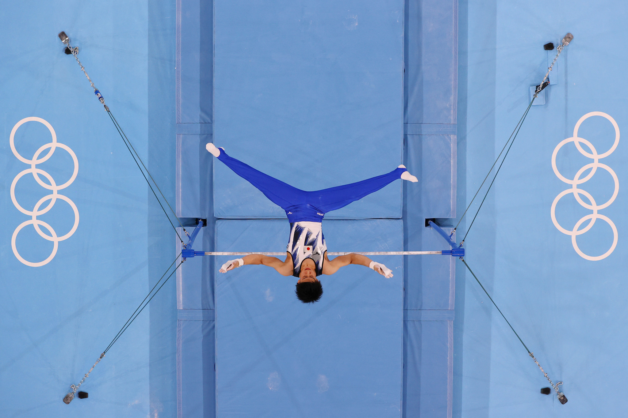 Meanwhile Daiki Hashimoto added the horizontal bar title to his all-around crown, cementing his status as one of the host nation's stars of the Olympics ©Getty Images