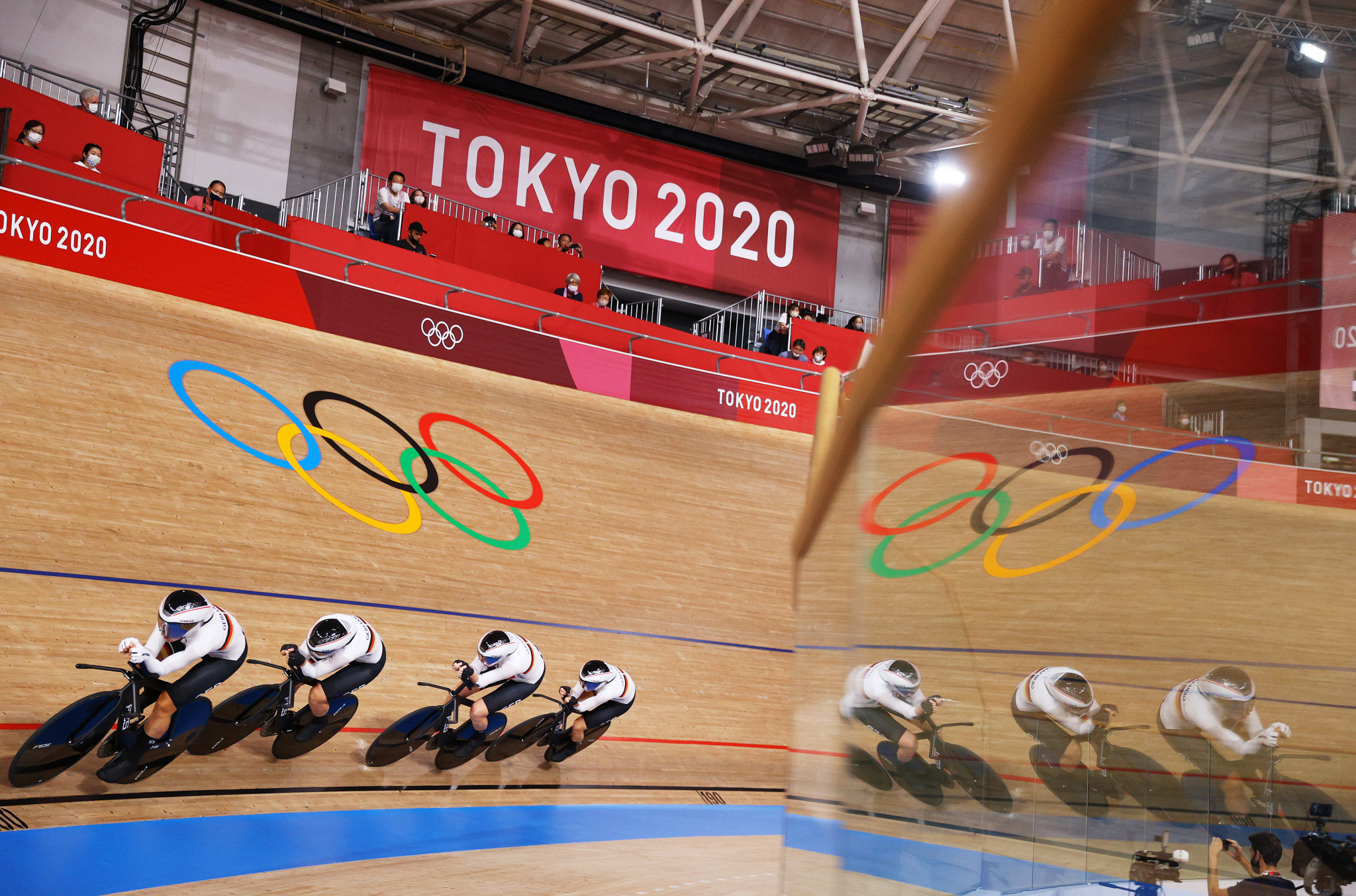 Germany produced a third consecutive world-record ride to earn a dominant women's team pursuit gold in the Izu Velodrome ©Getty Images
