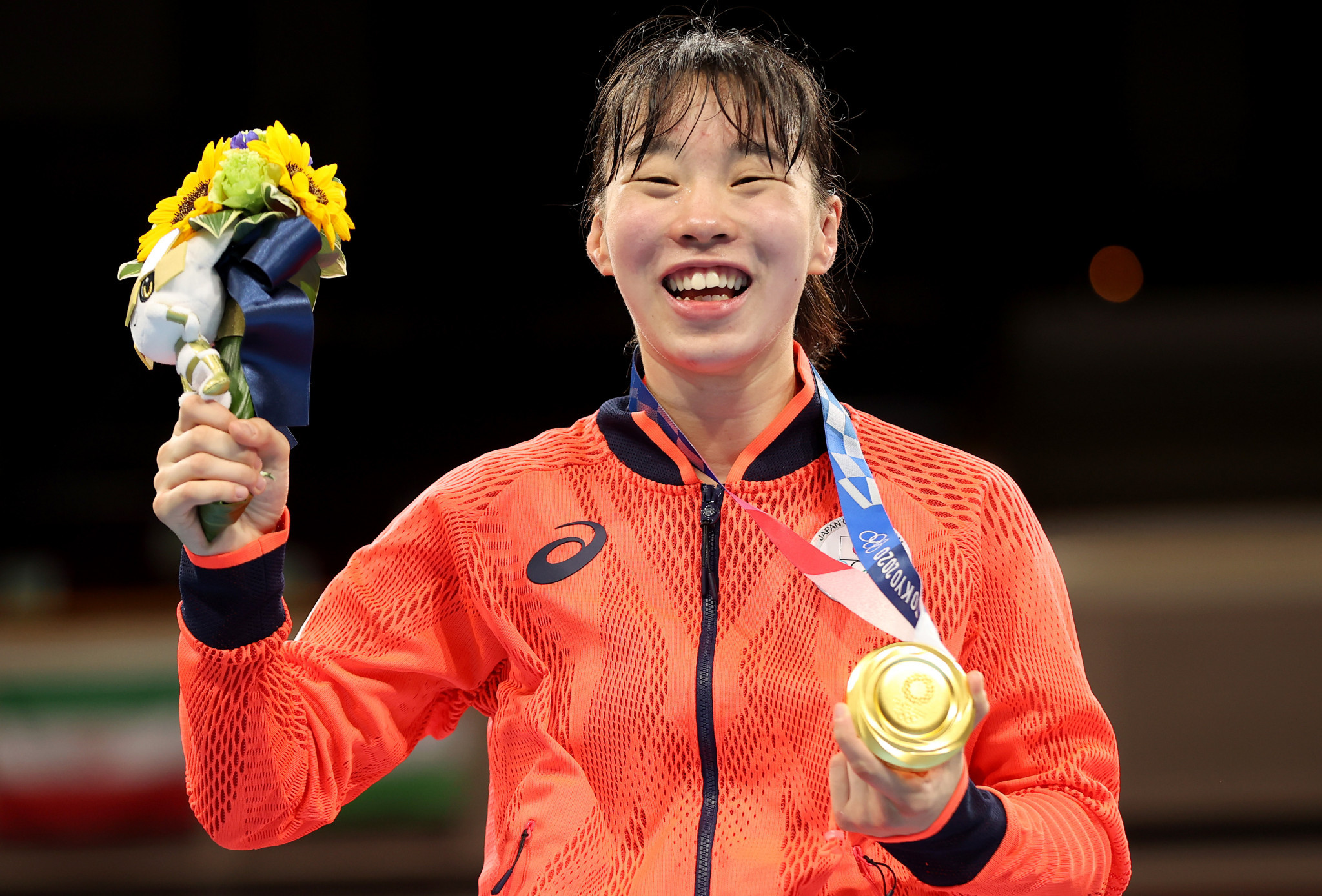 Japan's Sena Irie became the first Olympic champion crowned under the IOC Boxing Task Force, winning the women's featherweight division ©Getty Images