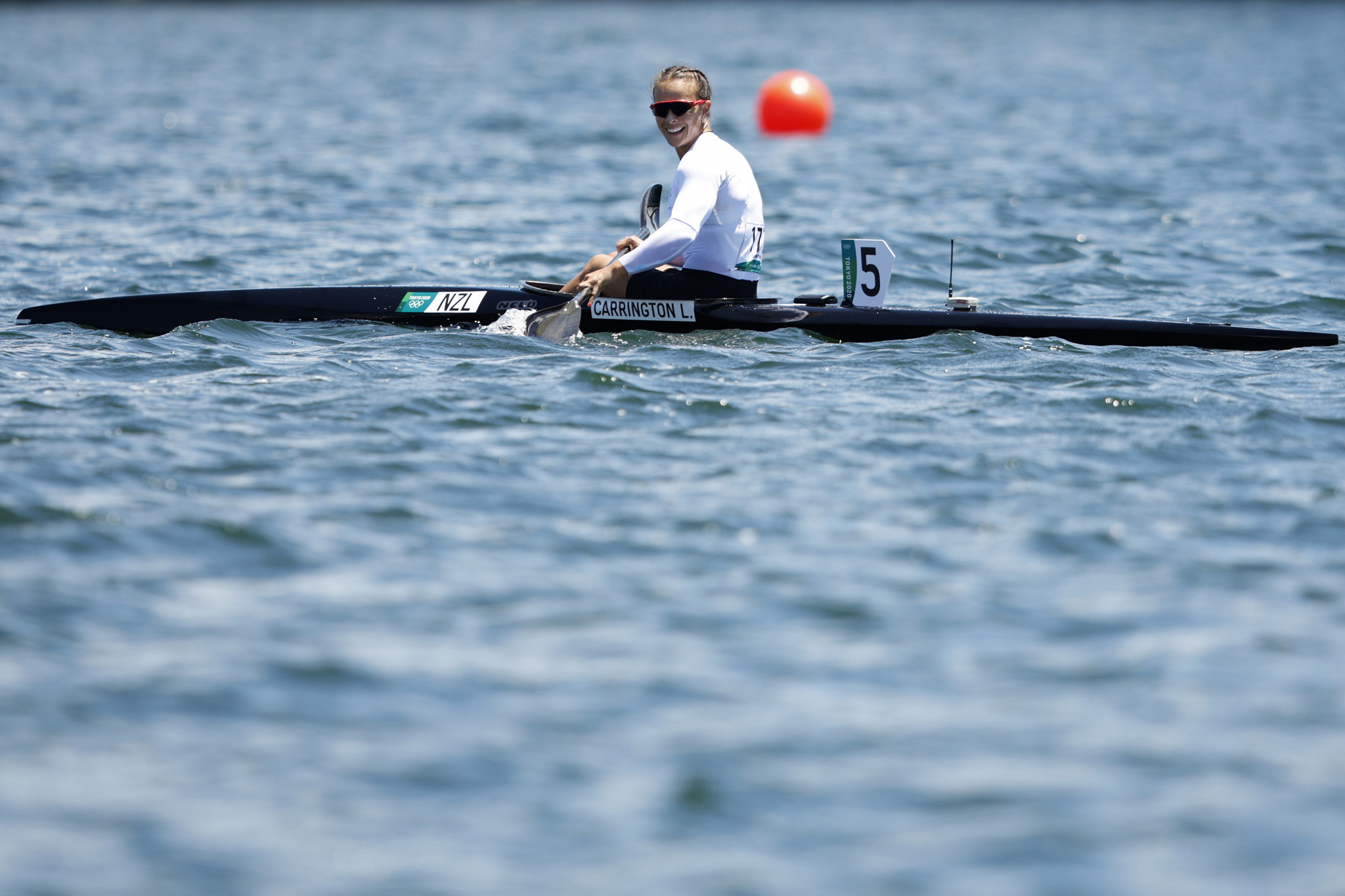 Lisa Carrington won two Olympic gold medals in little more than an hour, with the New Zealander first taking the women's K1 200m crown and then teaming up with Caitlin Regal for K2 500m glory ©Getty Images