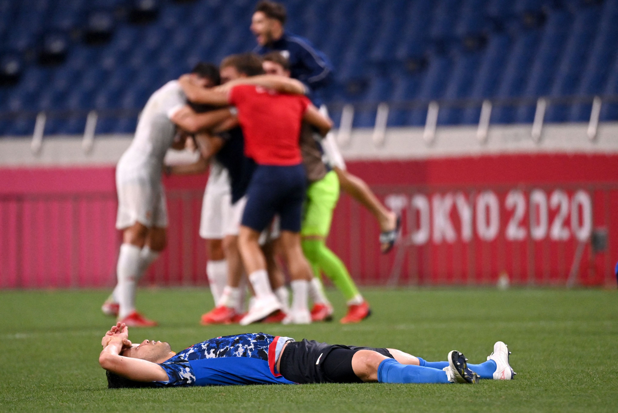 There was heartbreak for Japan in the men's football semi-finals, however, as Spain scored a 115th-minute goal to defeat them 1-0 and set up a final versus Brazil ©Getty Images