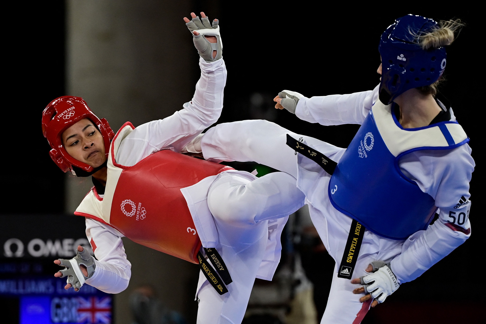 Taekwondo players from Tonga, New Zealand and Australia competed at the Tokyo 2020 Olympics  ©Getty Images