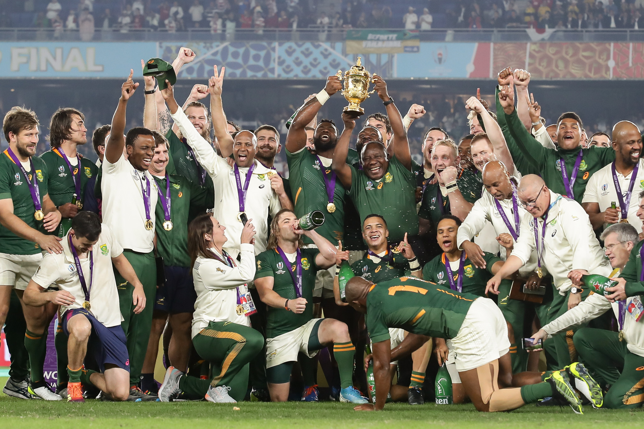 A potential World Rugby deal with a private equity firm could include a commercial stake in the Rugby World Cup ©Getty Images