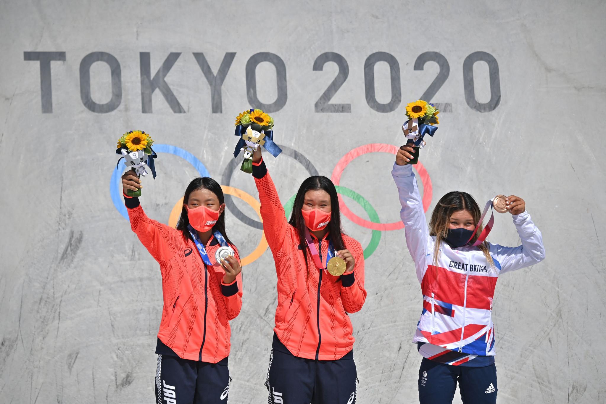 Yosozumi triumphs in first women's skateboard park final at Tokyo 2020