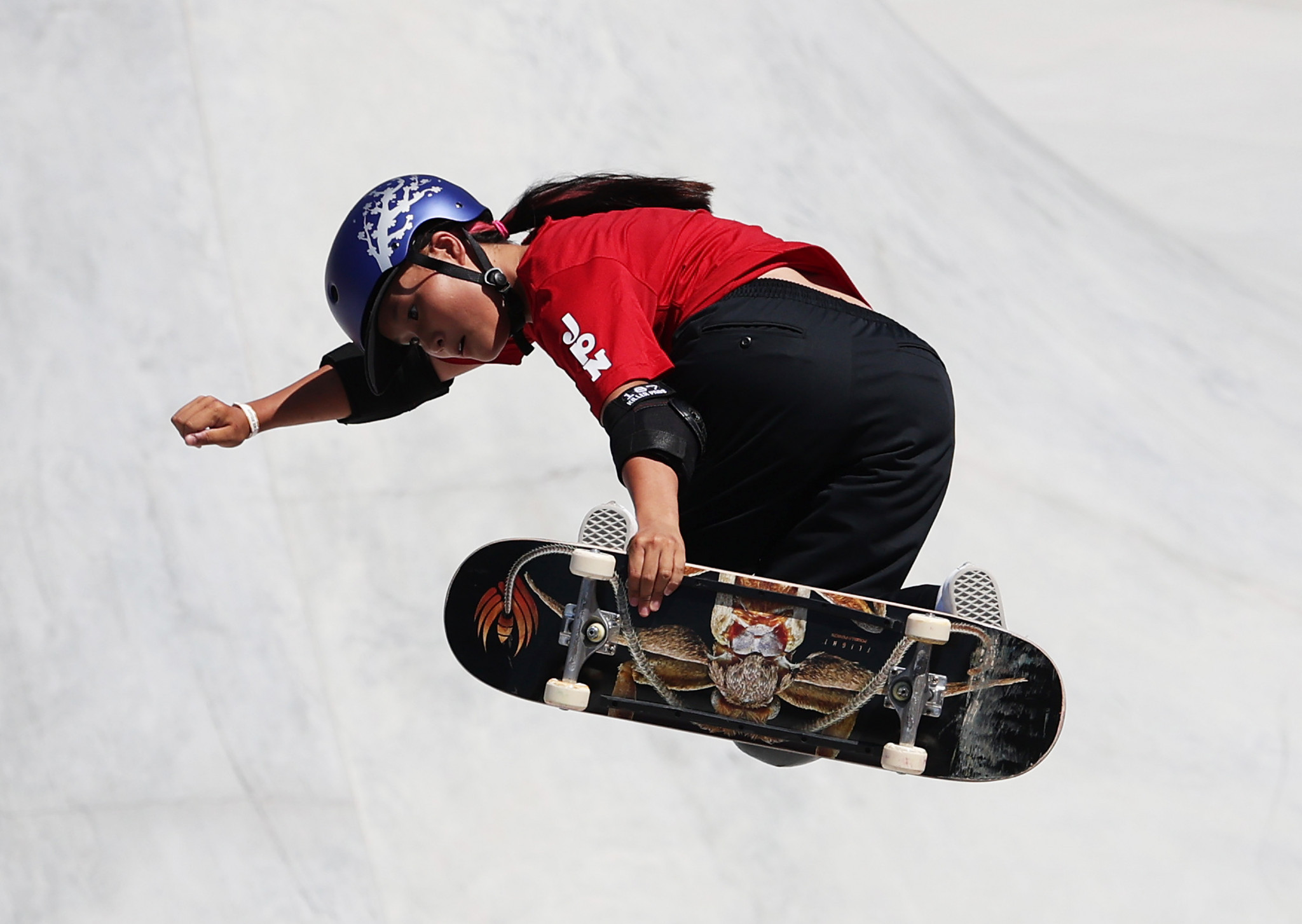 Japan's Sakura Yosozumi's first run of the competition proved enough to win gold ©Getty Images