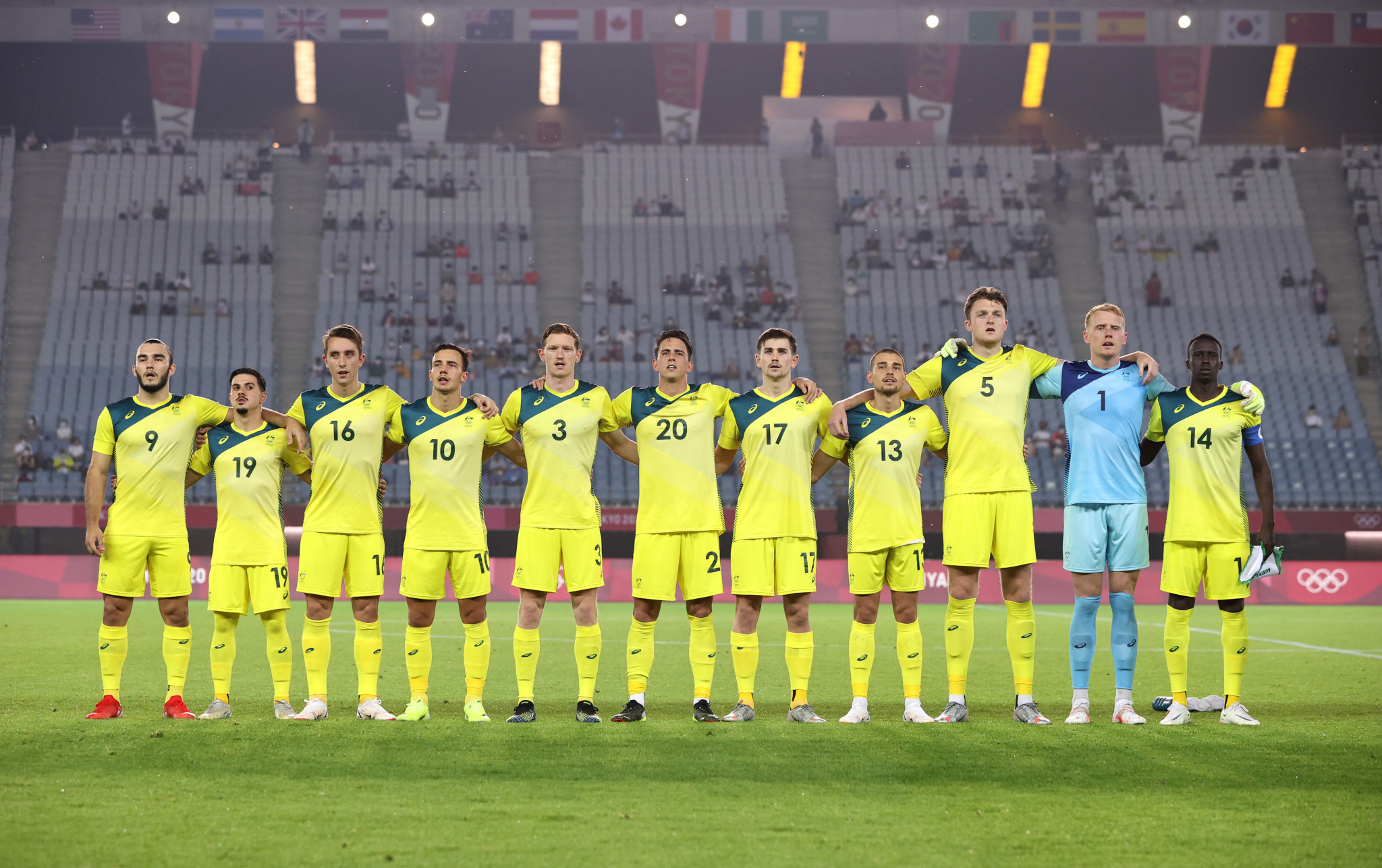 Australia's men's football team could play a home match against Saudi Arabia in Sydney in November ©Getty Images