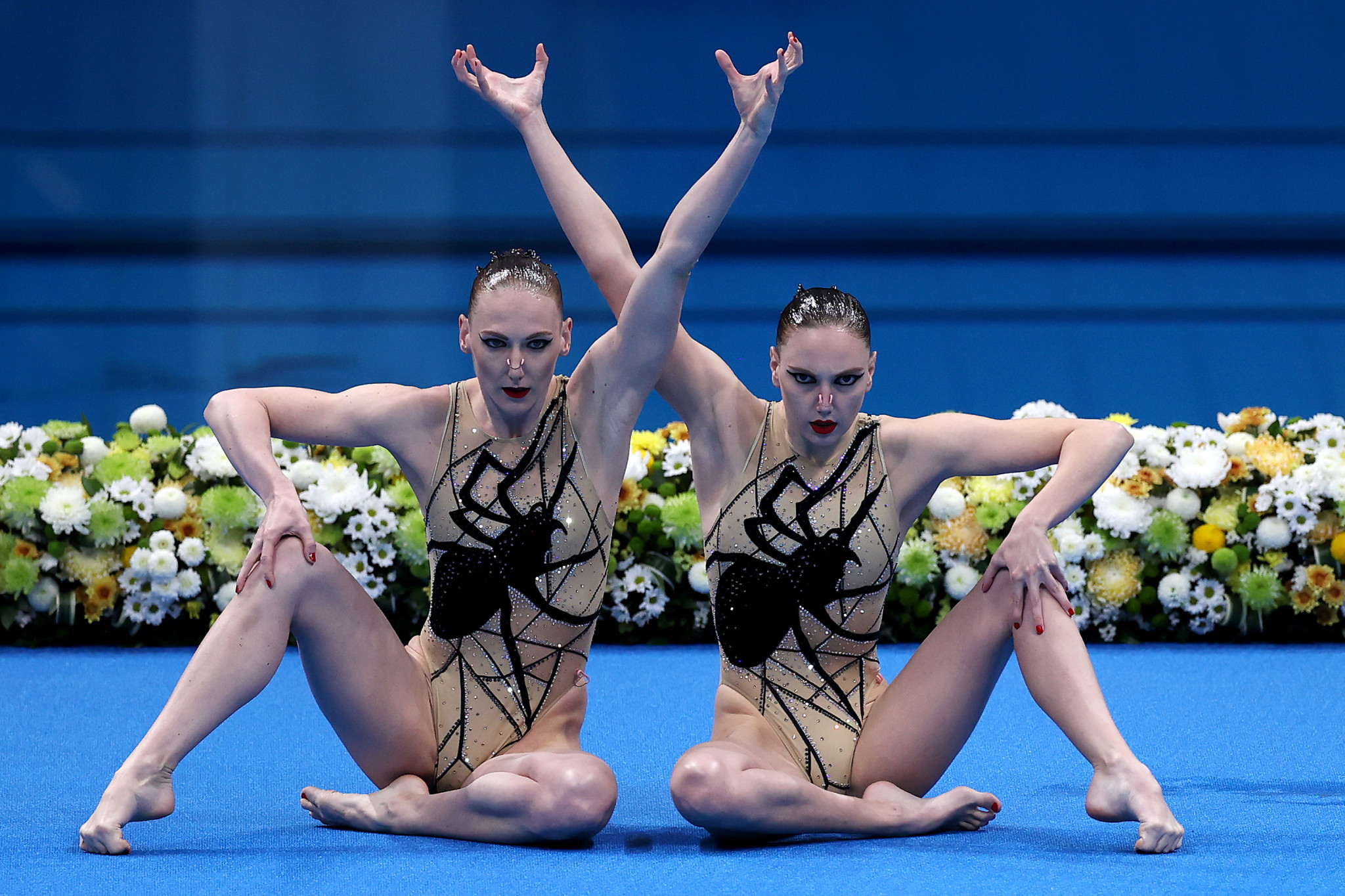 Kolesnichenko and Romashina were both named in the Russia line-up for the artistic swimming team competition ©Getty Images