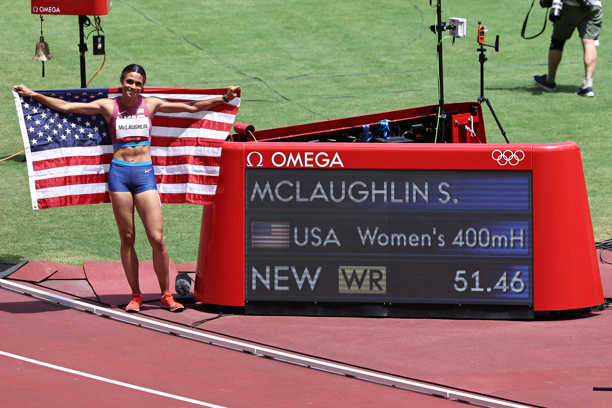 A 400m hurdles world record was smashed for the second day running at Tokyo 2020. American Sydney McLaughlin shaved 0.44sec off her own world record in a thrilling final ©Getty Images