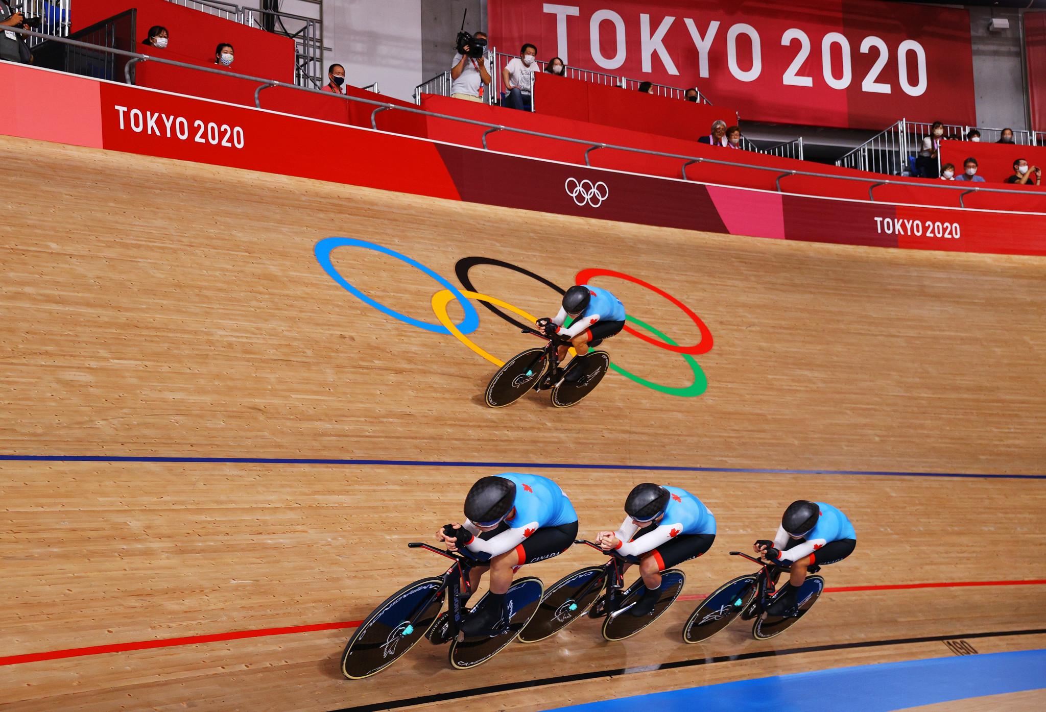 Le quatuor canadien pourchassant l'équipe féminine a terminé quatrième à Tokyo 2020 © Getty Images